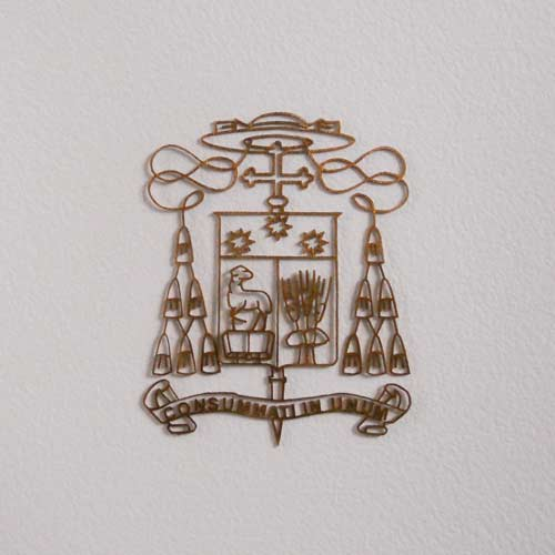 Brass work crafted for the Bishop watermark