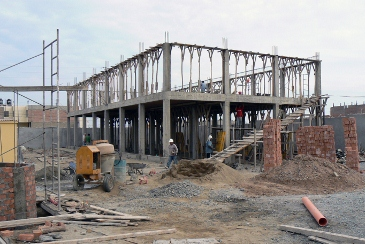 Construction site, April 2009