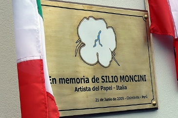 Commemorative plaque Silio Moncini