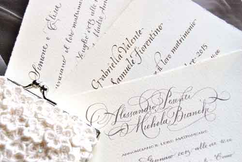Our calligraphic wedding cards