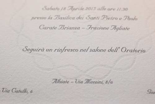 Wedding invitation with watermark model 'F'